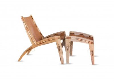 Quilpo Leather Sling Chair